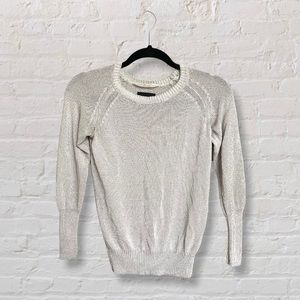 Wilfred Free Aritzia Off White Knit Sweater Crew Neck Size XS